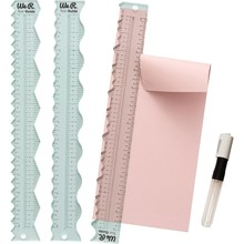 We R Memory Keepers 12 Inch Clear Rulers with Water Pen (660082)
