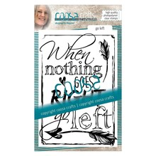 COOSA Crafts #2 Quote Go Left Clear Stamps (COC-027)