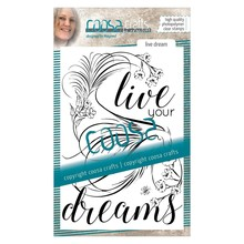 COOSA Crafts #3 Birds Live Dream Clear Stamps (COC-030)