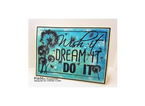 COOSA Crafts #5 Quote Wish It Clear Stamps (COC-037)