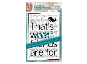 COOSA Crafts #5 Quote Friends Clear Stamps (COC-038)