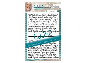 COOSA Crafts #5 Quote Fantasy Script Duo Clear Stamps (COC-039)