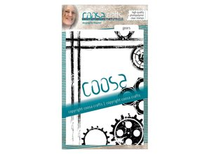 COOSA Crafts #6 Mannen Tandwielen Clear Stamps (COC-046)