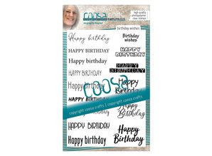COOSA Crafts #12 Birthday Wishes Clear Stamps (COC-071)