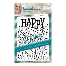 COOSA Crafts #15 Achtergrond Happy Clear Stamps (COC-090)