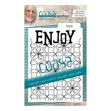 COOSA Crafts #15 Achtergrond Enjoy Clear Stamps (COC-091)