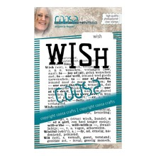 COOSA Crafts #16 Achtergrond Wish Clear Stamps (COC-095)
