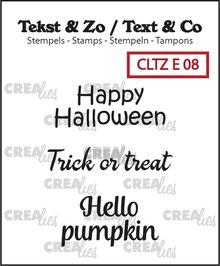 Crealies Tekst & Zo Halloween (CLTZE08)