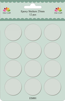 Dixi Craft Epoxy Stickers Rond Ø 25 mm (ES001)