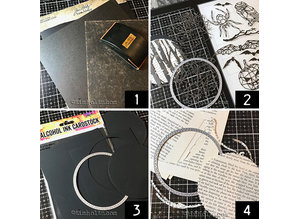 Idea-ology Blackout Kraft-Stock 8x8 Inch Paper Stash (TH94020)