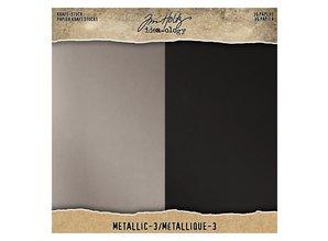 Idea-ology Metallic-3 Kraft-Stock 8x8 Inch Paper Stash (TH94021)