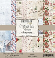 Reprint Christmas Time 12x12 Inch Paper Pack (CRP008)