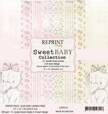 Reprint Sweet Baby Pink 12x12 Inch Paper Pack (CRP010)