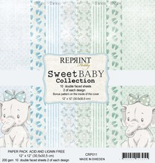 Reprint Sweet Baby Blue 12x12 Inch Paper Pack (CRP011)
