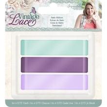 Crafter's Companion Vintage Lace Satin Ribbon (3pk) (S-VL-RIB-SAT)