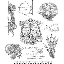 Stampers Anonimous Cling Stamps Weird Science (CMS379)