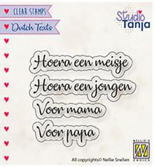 Nellie Snellen NL Teksten Hoera Een Meisje Clear Stamps (DTCS028)