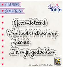 Nellie Snellen NL Teksten Gecondoleerd Clear Stamps (DTCS029)