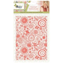Crafter's Companion Sew Retro Doodled Blooms Embossing Folder (S-SR-EF5-DOBL)