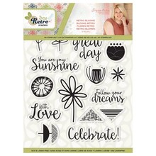 Crafter's Companion Sew Retro Retro Blooms Clear Stamps (S-SR-ST-RTBL)