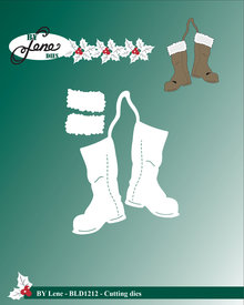 By Lene Metal Dies Christmas Boots (BLD1212)