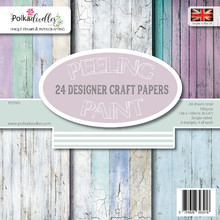 Polkadoodles Distressed Wood 6x6 Inch Paper Pack (PD7951)