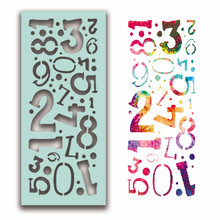 Polkadoodles Number Collage Creative Stencil (PD7936)