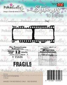 Polkadoodles Vintage Ephemera Clear Stamps (PD7930)