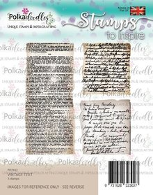 Polkadoodles Vintage Text Clear Stamps (PD7932)