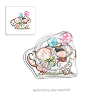 Polkadoodles Horace & Boo Invitation Clear Stamp (PD7867)
