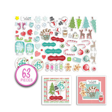 Polkadoodles Jumbles Christmas Cheer Ephemera Pack (PD7971)