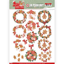 Yvonne Creations 3D Push Out Sweet Christmas Sweet Wreaths (SB10395)