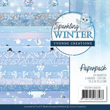 Yvonne Creations Sparkling Winter 6x6 Inch Paper Pack (YCPP10029)