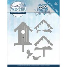 Yvonne Creations Sparkling Winter Winter Birdhouse Die (YCD10190)