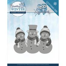 Yvonne Creations Sparkling Winter Sparkling Snowmen Die (YCD10191)