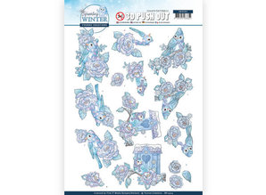Yvonne Creations 3D Push Out Sparkling Winter Winter Birds (SB10404)