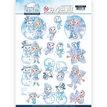 Yvonne Creations 3D Push Out Sparkling Winter Winter Fun (SB10405)