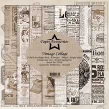 Paper Favourites Vintage Collage 12x12 Inch Paper Pack (PF305)