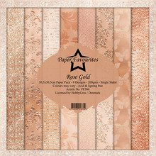 Paper Favourites Rose Gold 12x12 Inch Paper Pack (PF306)
