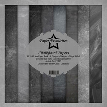 Paper Favourites Chalkboard Papers 12x12 Inch Paper Pack (PF307)