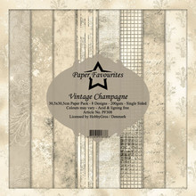 Paper Favourites Vintage Champagne 12x12 Inch Paper Pack (PF308)