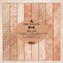 Paper Favourites Rose Gold 6x6 Inch Paper Pack (PF106)