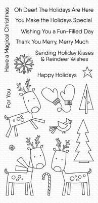 My Favorite Things Reindeer Games Clear Stamps (CS-428)