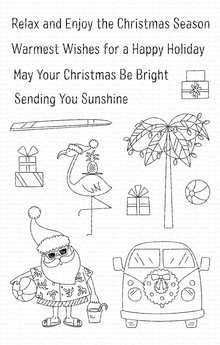 My Favorite Things Sun-Lovin' Santa Clear Stamps (CS-431)