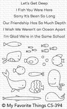 My Favorite Things Fish You Were Here Clear Stamps (CS-394)