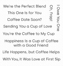 My Favorite Things Cup of Love Clear Stamps (CS-416)