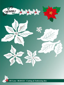 By Lene Metal Dies Large Poinsettia (BLD1221)