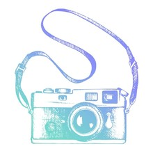Couture Creations Men's Collection Vintage Camera Mini Clear Stamp (CO726789)