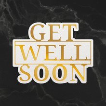 Couture Creations Get Well Soon Sentiment Mini Cut, Foil & Emboss Die (CO726712)
