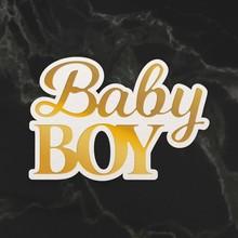 Couture Creations Baby Boy Sentiment Mini Cut, Foil & Emboss Die (CO726714)